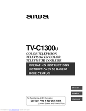Aiwa TV-C1300 Operating Instructions Manual