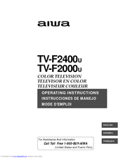 Aiwa TV-F2400u Operating Instructions Manual