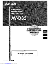 aiwa av d35 operating instructions manual pdf download rh manualslib com
