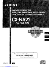 Aiwa CX-NA22 Operating Instructions Manual