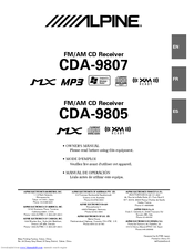 alpine cda 9807 owner s manual pdf download rh manualslib com