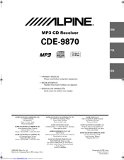 alpine cde 9870 manuals rh manualslib com Alpine CDE 9870 Stereo Manual Alpine CDE 7804