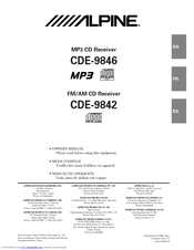 alpine cde-9846 owner's manual