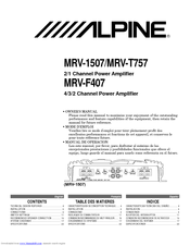 alpine mrv t757 manuals rh manualslib com Ford Owner's Manual Ford Owner's Manual