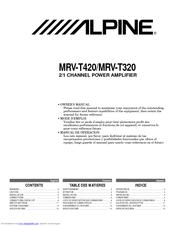 Alpine MRV-T320 Owner's Manual