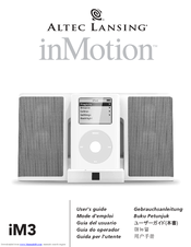 altec lansing inmotion im3c manuals rh manualslib com altec lansing inmotion max imt702 manual altec lansing inmotion im9 manual