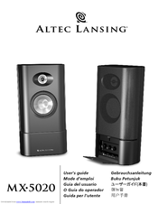 altec lansing mx 5020 manuals rh manualslib com altec lansing m604 speaker user's manual Altec Lansing Subwoofer Manual