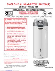 Bth 120, 150, 199, 250 ao smith water heaters.