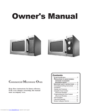 Amana Commercial Microwave Oven Owner S Manual