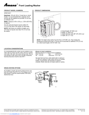 amana nfw7200tw manuals rh manualslib com Amana Model NFW7200TW amana washer nfw7200tw parts diagram