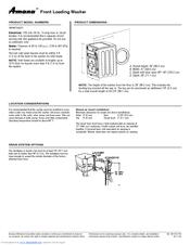 amana nfw7200tw manuals rh manualslib com amana washer nfw7200tw repair manual amana washer parts nfw7200tw