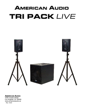 American Audio TRI PACK LIVE Instruction Manual