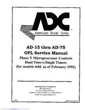 american dryer corp adg 50d manuals rh manualslib com ADC Dryer Parts Un iMac Dryer