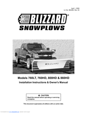 blizzard snowplow 800hd manuals blizzard snowplow 800hd installation and owner s manual