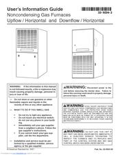 american standard noncondensing gas furnaces manuals rh manualslib com american standard furnace manual pdf american standard furnace manual pdf