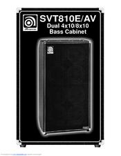 Ampeg SVT810E/AV Owner's Manual