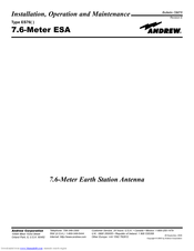Andrew 7.6-Meter ESA Installation, Operation And Maintenance Manual