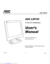 aoc lm720 17 manuals rh manualslib com Clip Art User Guide Example User Guide