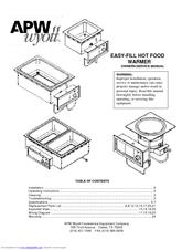 apw wyott hot food warmer owner s and service manual pdf download rh manualslib com