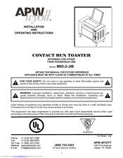 Apw Wyott M95-2-JIB Manuals on