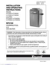 Raypak Rp2100 Asme R185b Manuals