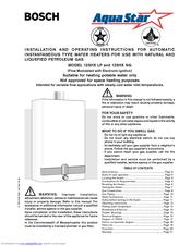 bosch aquastar 125hx ng manuals rh manualslib com Bosch AquaStar Tankless Water Heater Parts Bosch AquaStar Tankless Water Heater Parts