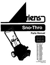 ariens sno thro 003 ss322e manuals. Black Bedroom Furniture Sets. Home Design Ideas