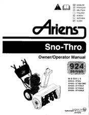 ariens sno thro 924318 st824 owner s operator s manual pdf download rh manualslib com ariens st824 service manual ariens st824 service manual