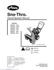 ariens sno thro 932037 724 owner s operator s manual pdf download rh manualslib com Ariens 8 5 Snow Blower Ariens Sno-Thro Model 932036