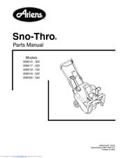 Ariens sno-thro 938017 ss522ec, 938018 ss722ec, 938019 ss522.