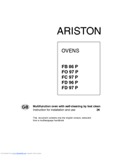Ariston FD 96 P Instructions For Installation And Use Manual