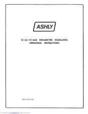 Ashly Parametric Equalizers SC-63 Operating Instructions Manual
