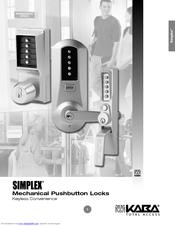 Simplex 1000 mechanical lock kaba access & data systems.