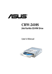 Asus 24x/10x/40x CD-RW Drive CRW-2410S User Manual