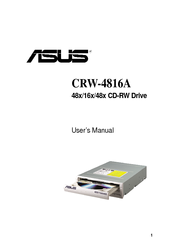 Asus 48x/16x/48x CD-RW Drive CRW-4816A User Manual