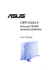 Asus External CD-RW CRW-5224A-U User Manual