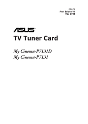 Asus My Cinema P7131 User Manual