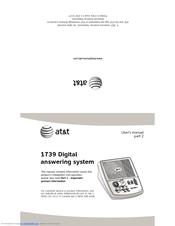 at t 1739 manuals rh manualslib com at&t 1739 answering machine manual pdf at&t model 1739 answering machine manual
