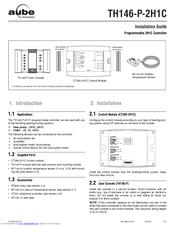 Aube Technologies TH146-P-2H1C Installation Manual