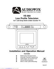 audiovox ve 560 manuals rh manualslib com Undercounter TV Walmart TV Under Kitchen Cabinet