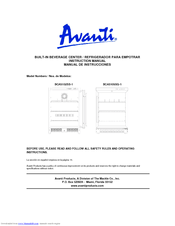avanti bca5102ss 1 instruction manual pdf download rh manualslib com User Guide Template User Training