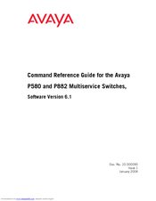 Avaya 106760804 Command Reference Manual