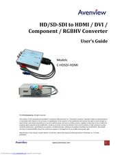 Avenview C-HDSDI-HDMI Manuals