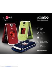 lg ax8600 manuals rh manualslib com LG 8600 Cell Phone LG Tone Ultra