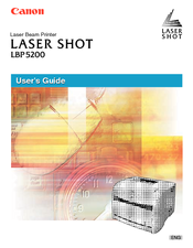 Canon Laser Shot LBP-5200 User Manual