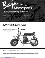 BAJA MOTORSPORTS DB30 OWNER'S MANUAL Pdf Download