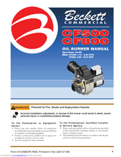Beckett CF 500/800 Instruction Manual