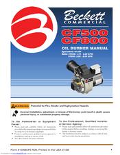 Beckett CF 500/800 Instruction Manual