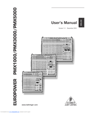 behringer europower pmx3000 user manual pdf download rh manualslib com