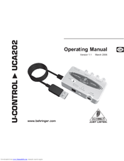 behringer u control uca202 operating manual pdf download rh manualslib com behringer uca202 manual download behringer uca202 usb audio interface manual